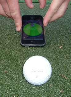 Golf Stimpmeter app for iPhone