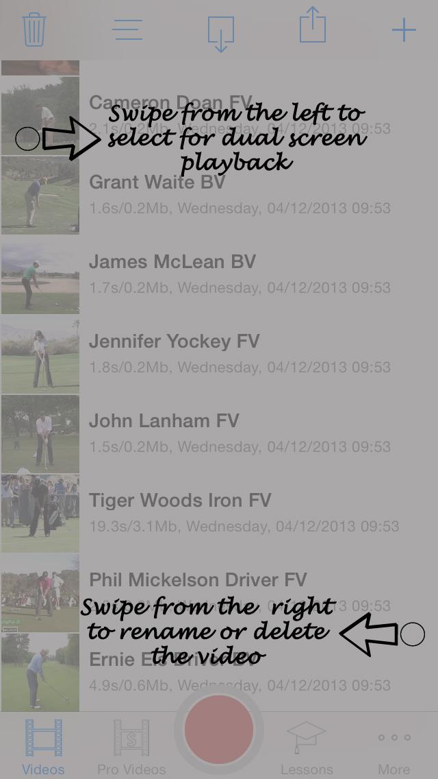SwingPlane Golf iPhone App manual